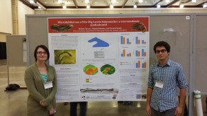 Celeste and Will presenting our poster at the Joint Meeting of Ichthyologists and Herpetologists